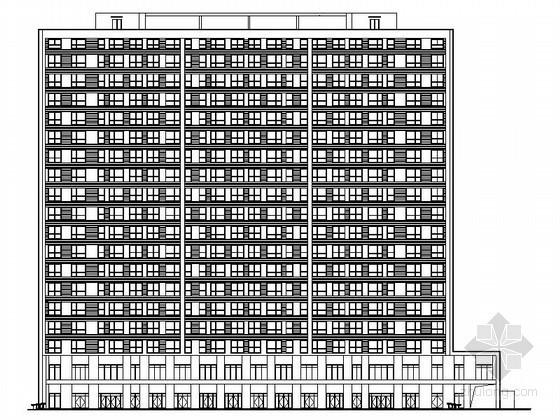 [北京]某居住区外立面工程建筑施工图