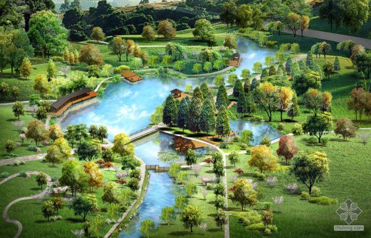 江苏省茶场改造生态园景观规划设计图纸部分2