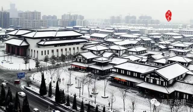 最美不过初雪,宿迁的项王故里就变成了西楚古城_3