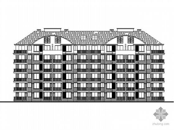 [安置房]某六层一梯四户住宅楼建筑施工图