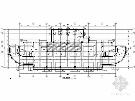 [浙江]八层框架结构指挥训练中心结构施工图