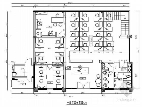 [广州]时尚品牌女鞋公司简欧风格办公室装修图