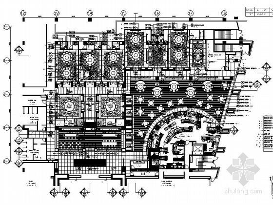 [北京]酒店风味中餐厅室内装修施工图