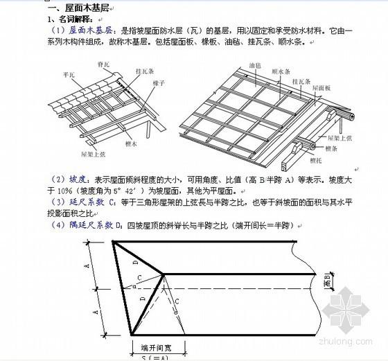 屋面及防水工程预算知识讲解(含图例)