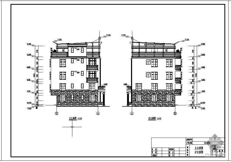 深圳某4层框架别墅设计图