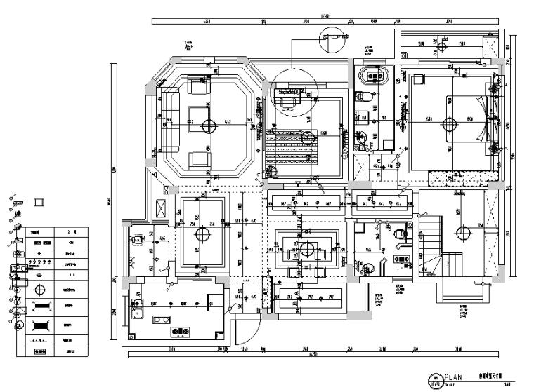 嘉宝花园美式复式样板房设计施工图(附效果图)