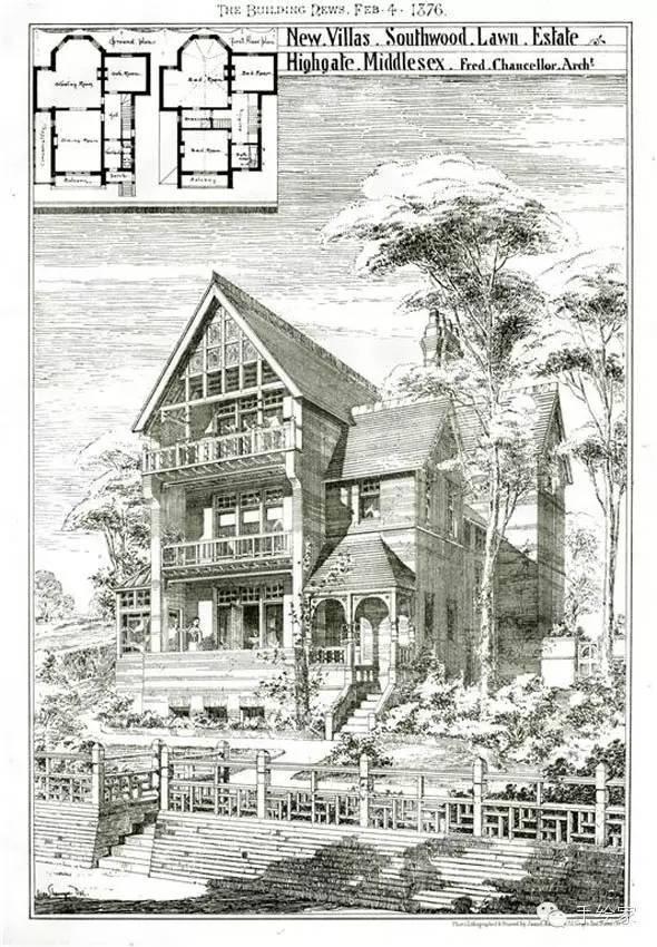 百年经典建筑设计手绘图_24