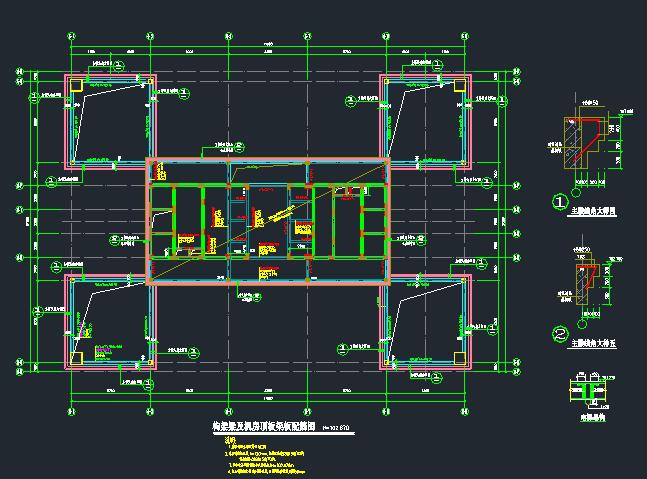 [湖南]地上24层框架核心筒结构商务楼结构施工图_4