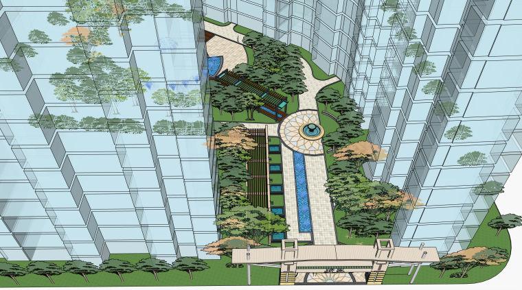 超精细!居住区建筑景观设计模型_8