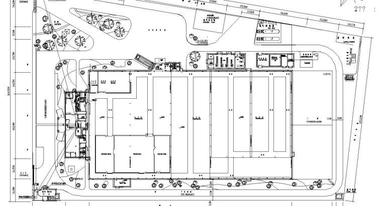 某厂区门禁监控布置平面图
