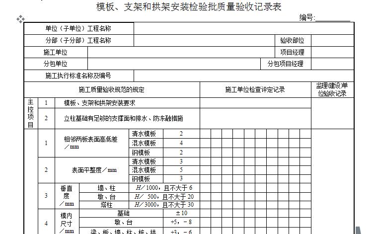 市政工程质量验收表格(新版,共6个文件夹358张表格,内容丰富)