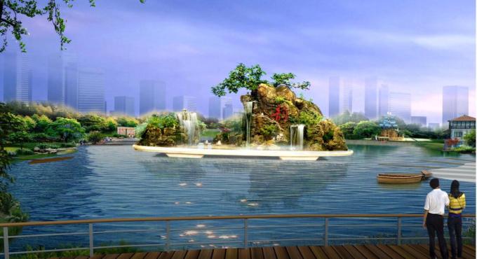 """[辽宁]""""一纵五横""""水系景观概念性规划设计_2"""
