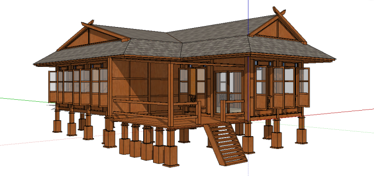 74套树屋·小木屋SU模型41-50