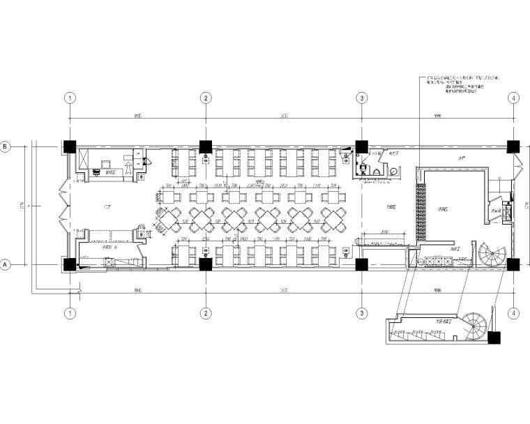 [郑州]镶兰集之兰州五味壹品牛肉面郑州建设东路店装修设计施工图(附效果图)