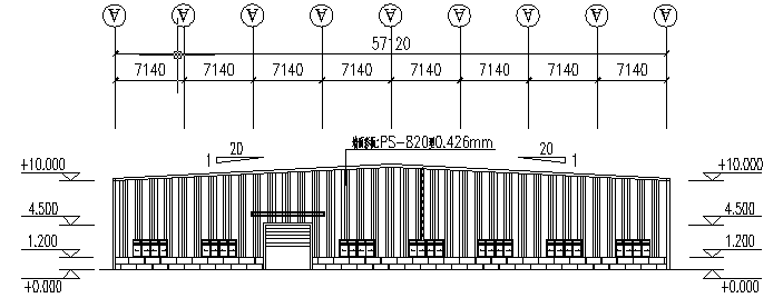 中阳石业门式刚架钢结构厂房(CAD,16张)_2