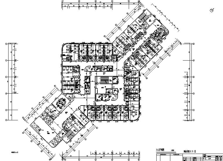 南京某大型医院室内平面装修设计施工图(57张)