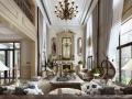 浪漫宫廷|欧式复古风别墅客厅设计3D模型(附效果图)
