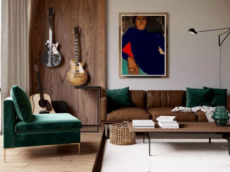 优雅时尚的50平米小公寓设计|AlexandraRudenko工作室