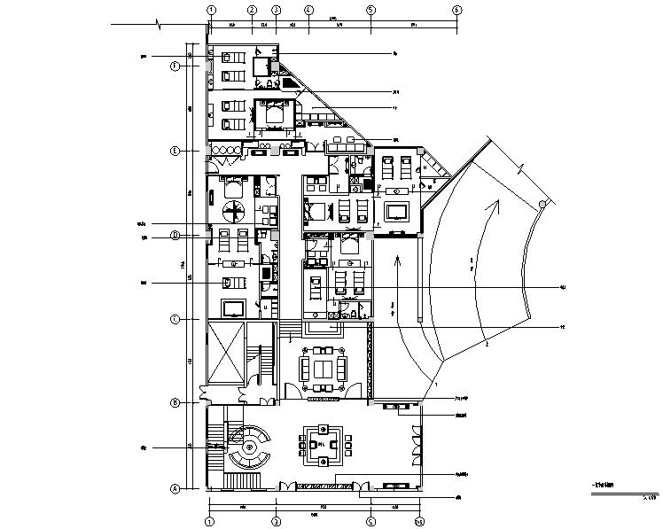 泰式风格SPA会所空间设计施工图(附效果图)