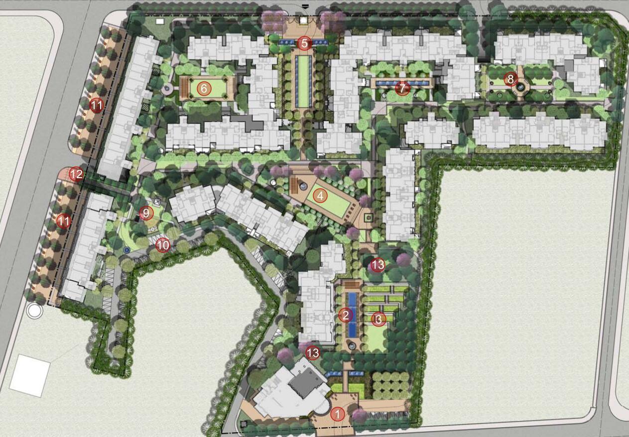 绿地类型:小区游园 图纸深度 :方案(初设图) 项目位置:四川 设计风格图片