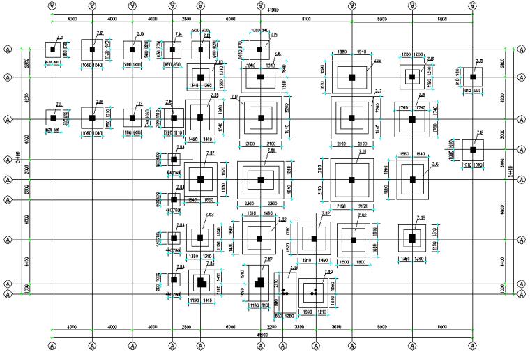 四层办公楼框架结构施工图纸(CAD,12张)