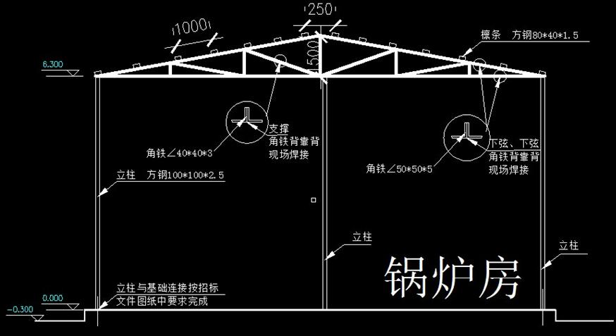 钢结构彩钢房深化设计(word,17页)图片