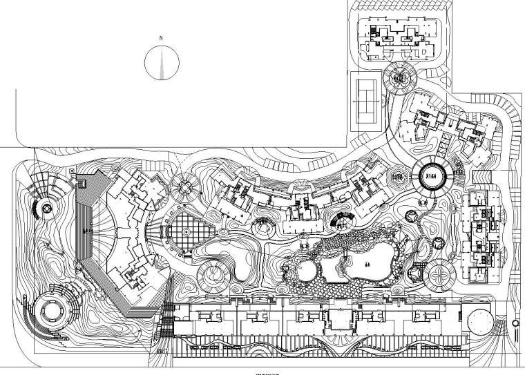 [四川]香格里拉花园环境景观工程施工图纸设计(CAD+150页)