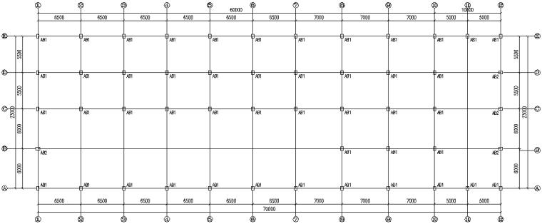 单跨门式刚架钢结构工程厂房施工图(CAD,12张)_3