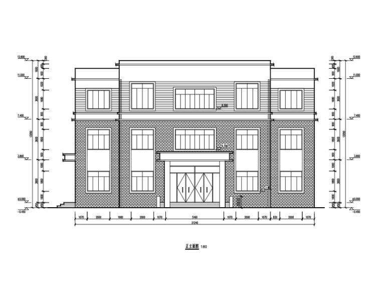 3层砖混结构办公室建筑施工图