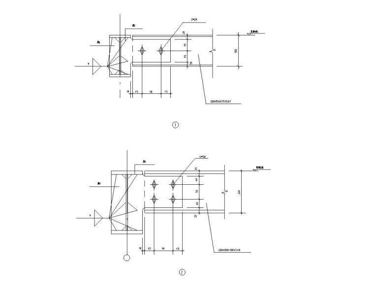 21套梁与梁的连接结构详图