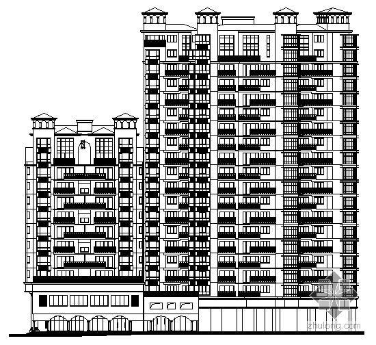 [湘潭市]某国际小区十八层商住楼1、2栋建筑施工图