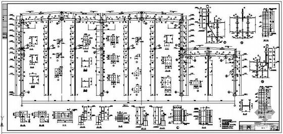 某年产6万吨工业级五钠厂房建筑结构图