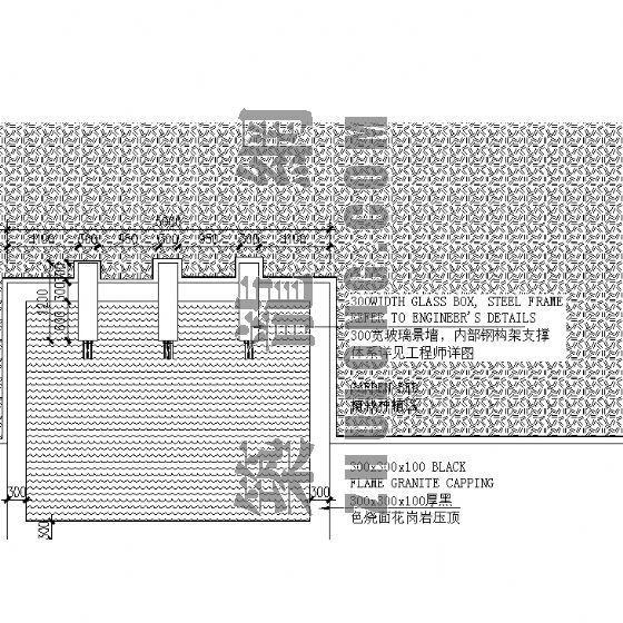 园林水景墙建筑施工详图