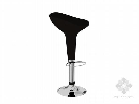 黑色吧椅3D模型下载