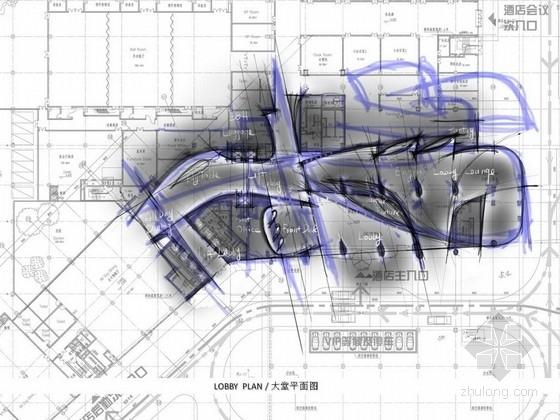 [深圳]某五星级机场酒店室内设计方案图