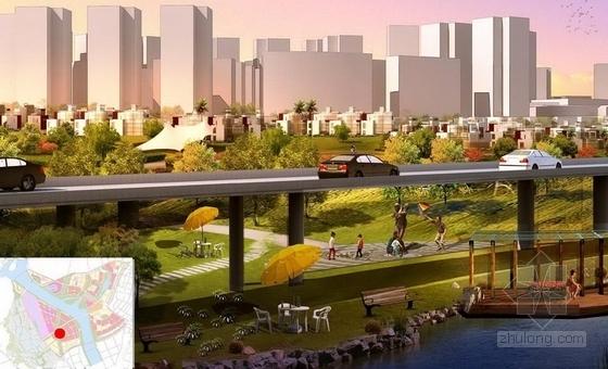 [成都]亮丽沿岸风景线城市景观规划设计方案-景观效果图