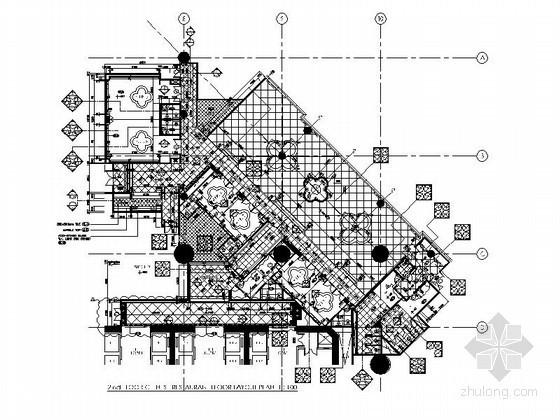 某高档餐厅全套CAD平面图