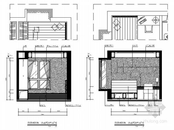 [广州]花园小区欧式风格两居室装修图(含效果图) 立面图