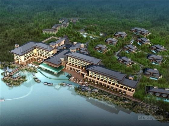 [安徽]新中式风格国际精品度假酒店建筑设计方案文本(306套客房 3个方案)