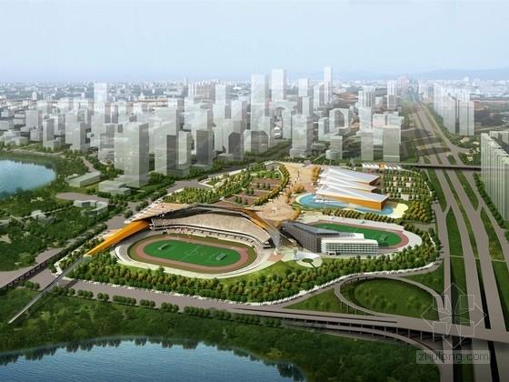 [广东]现代风格体育中心规划建筑设计方案文本(含方案估算表)