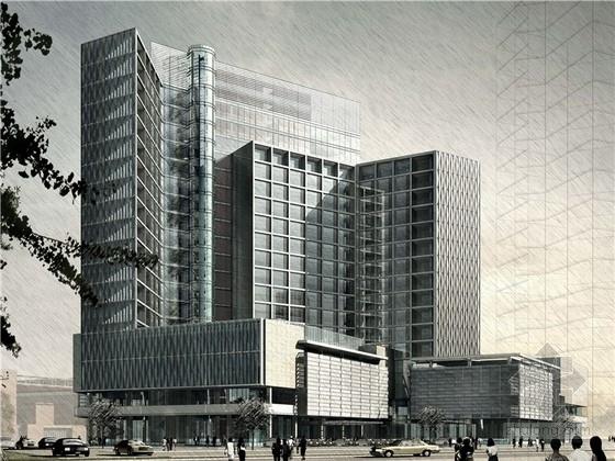 [河北]现代市级会展中心及高层酒店建筑设计方案文本