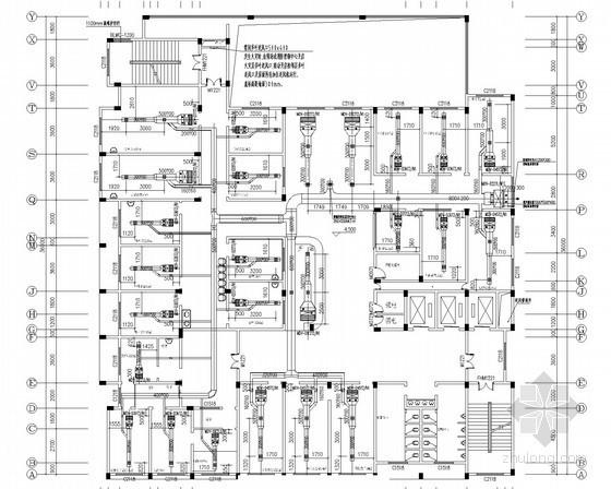 [江西]住院门诊综合大楼空调系统设计施工图(含电力系统)
