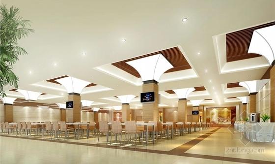 1基础设施开发性金融机构高档现代营业厅设计方案 员工餐厅