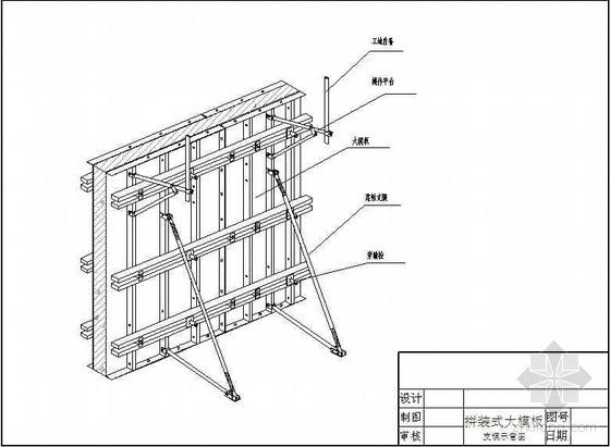 陕西某商业广场模板方案(拼装式全钢大模板 附图及计算书)