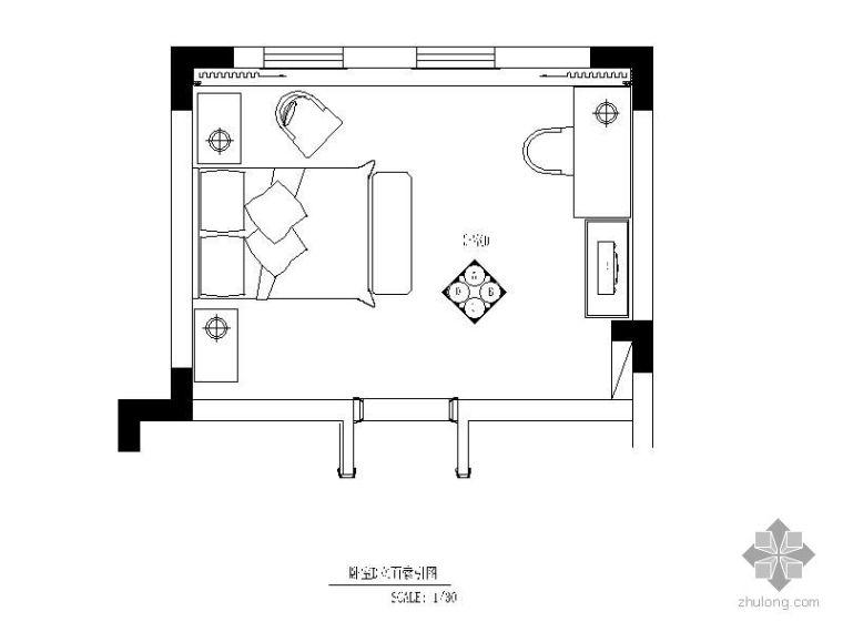 别墅卧室装修施工详图