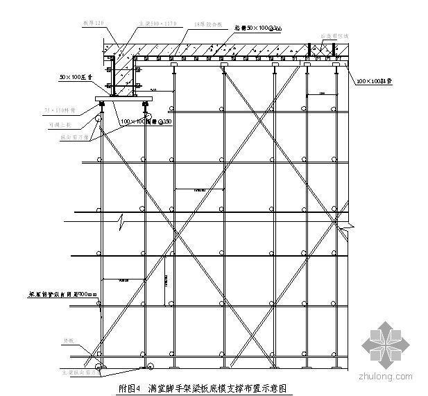 福建某大学图书馆超高模板施工方案(九夹板)