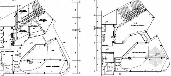 某高层三层裙房配电平面图