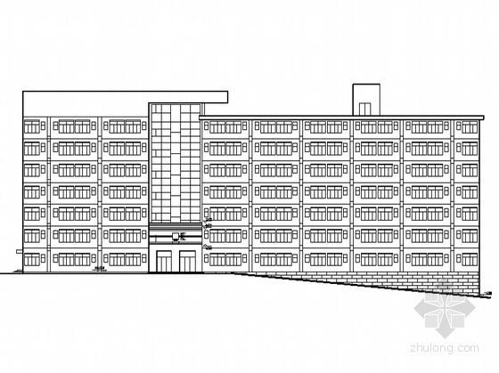 [浙江]某七层坡地宿舍楼建筑方案图