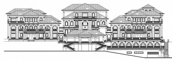 [广东]某山庄三层度假村建筑结构水电施工图(含审图记录)