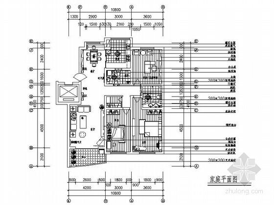 三室两厅简单装修设计图